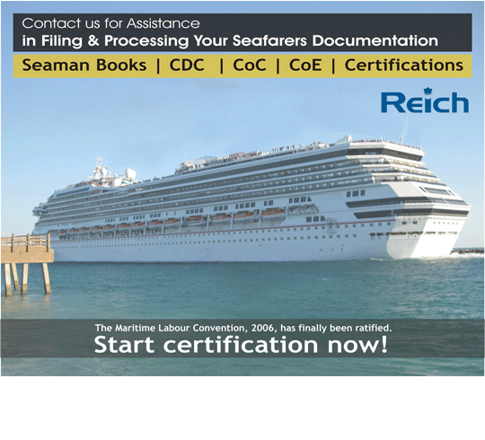 Certificate of Competency (CoC) / Marine Licence Seaman Record  Book / Seaman's Discharge Book / Continuous Discharge Certificate